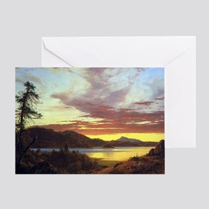 Frederick Edwin Church Sunset Greeting Card